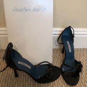 Charles David Blk Rose stilettos